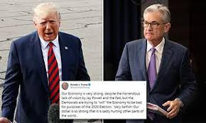 President Trump takes a jibe at the Fed Chairman